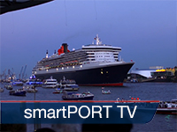 smartPORT TV: An anniversary celebration in Hamburg - The Queen Mary 2 visits in the tenth year
