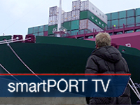 smartPORT TV: CSCL Globe, the biggest Container Ship worldwide in Hamburg